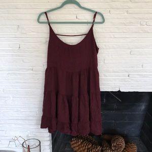 Maroon Brandy Melville dress